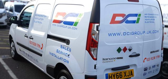 DCI's air conditioning & refrigeration service Renault Kangoo vans